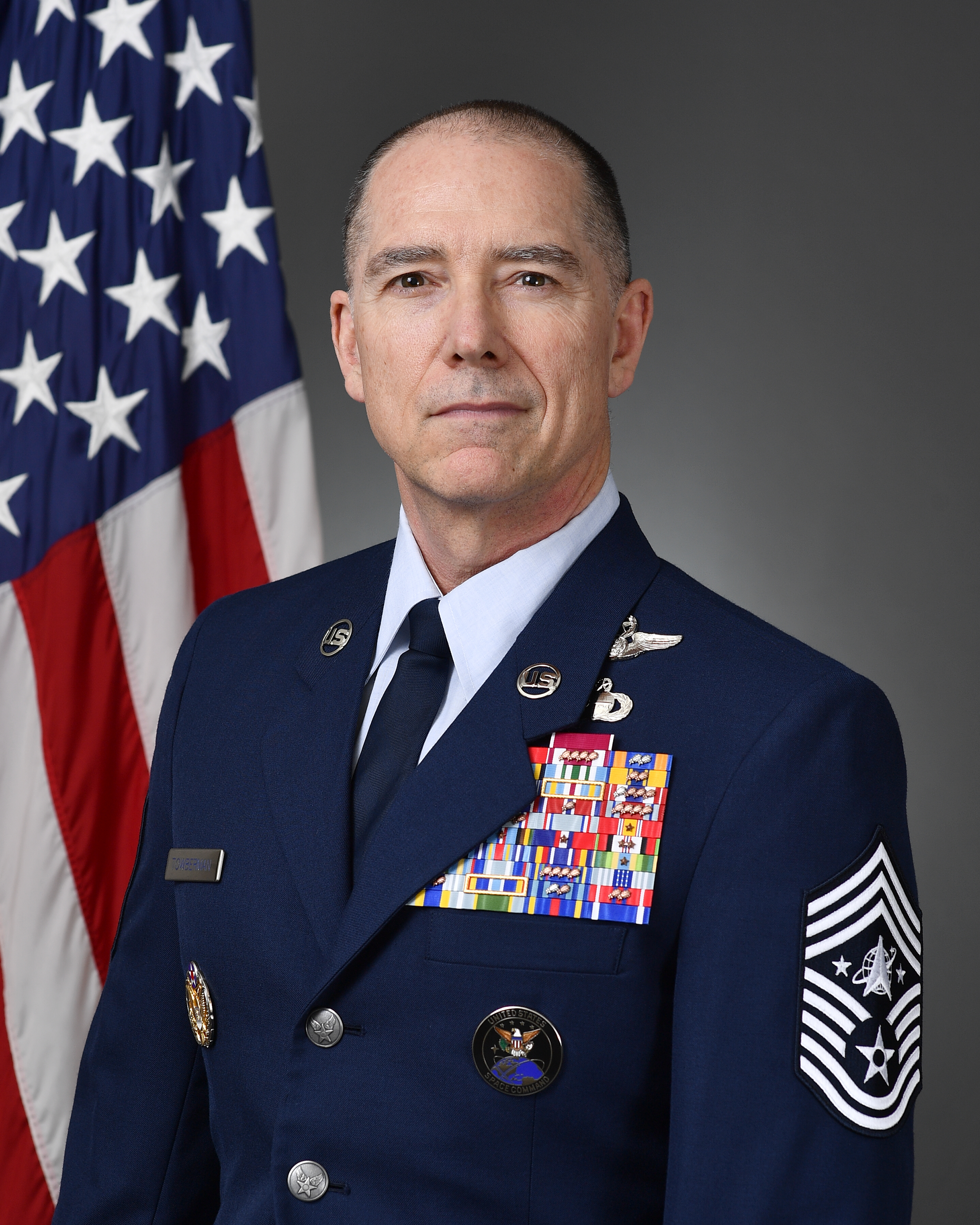 Chief Master Sergeant Roger Towberman Biography Photo